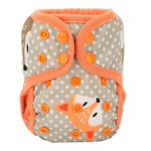 2018 NEWBORN Cloth Diaper Cover Baby Nappy Reusable Double Gussets 8-10lbs Fox