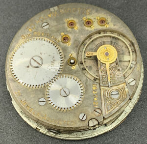 Swiss-Fake-Pocket-Watch-Movement-16s-21j-St-Louis-Special-Parts-or-Repair-F4544
