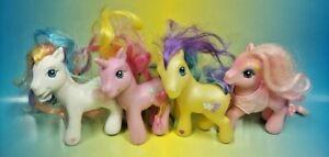 4-G3-My-Little-Pony-MLP-Brushable-Rare-Horse-Bundle-Lot-Era-2002-2006-Ponies