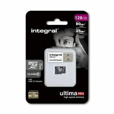 128GB Micro SDXC Memory Card. Fast, Class 10 UHS-I U1 80MB/s inc USB 3.0 Reader