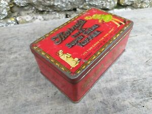 c1920-039-s-Vintage-Collectable-Thorne-039-s-of-Leeds-Toffee-Tin-Embossed-Hinged-Lid
