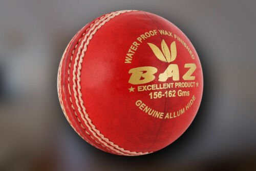 6 x AJ Amar Jyoti BAZ  4pc Red Leather Cricket BallsFree Shipping