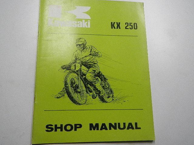 1974 Kawasaki Kx250 Owners Repair Shop Manual 74 Kx 250