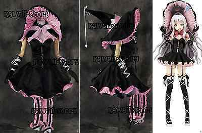 H-3165 Shining Hearts Melty Witch Hexe Kleid  Cosplay Kostüm dress costume n.Maß