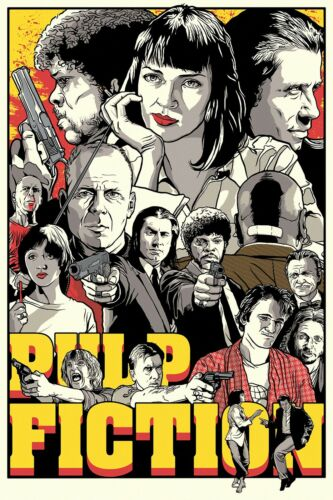 PULP FICTION MOVIE POSTER WALL ART PRINT A4 A3 PF01