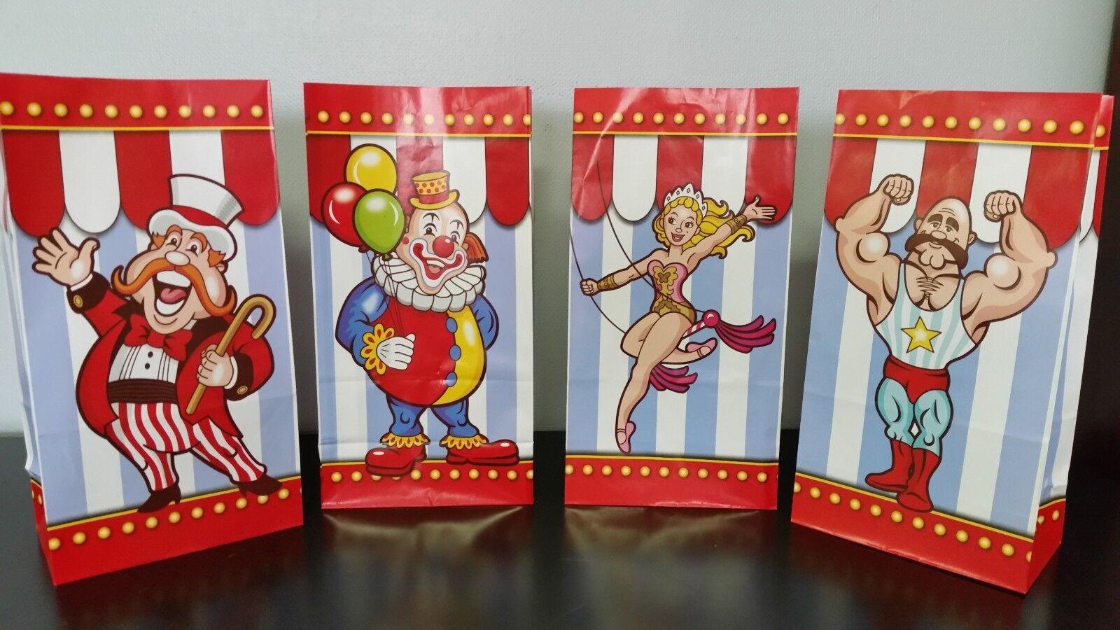 288-Big Top Circus Party Papier Sacs Cadeau-Anniversaire Carnaval faveur traiter tente