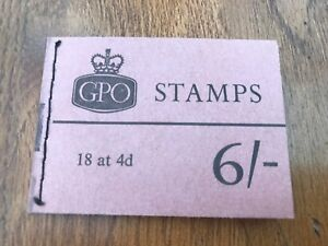 Details about 1967 gpo book of stamps - 6/- ( 18  4d stamps )