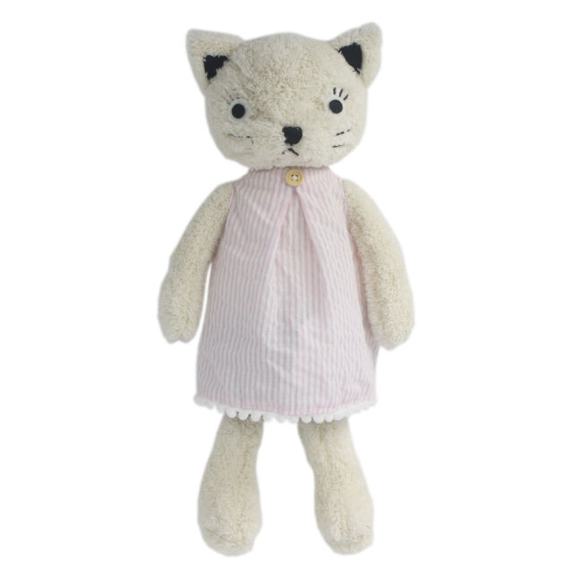 Jiaru Stuffed Animals White Cats Plush Toys Dressed Dolls 20 Inches