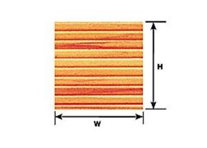 Plastruct Styrène Ps-35 (91536) 2 X 3,2 Mm X 175 Mm X 300 Feuilles Bois Petites Lattes-afficher Le Titre D'origine