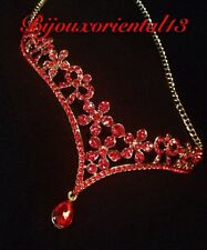 Bijoux De Front Parure MARIAGE takchita oriental Rouge caftan Pince A Cheveux Ne