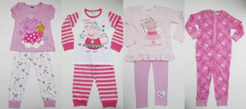 Mädchen Peppa Pig Pink Schlafanzüge 3 Designs Bnwot Alter 2-8