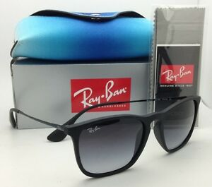 New RAY-BAN Sunglasses RB 4187 622 8G 54-18 Rubber Black w  Grey ... e91cb2d5a01
