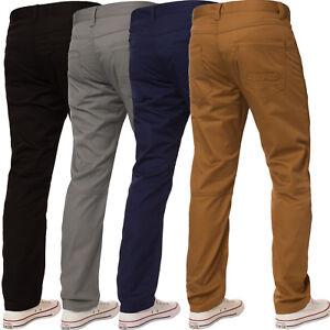 Enzo-Mens-Straight-Leg-Jeans-Regular-Fit-Denim-Trousers-Pants-Coloured-All-Waist