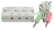 3.5mm Headphone/Headset & Speaker Audio Switch - Microphone Input/Volume Control