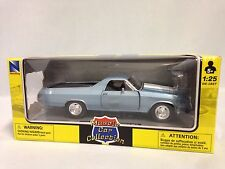 1970 Chevrolet El Camino SS Muscle Car Collectible Diecast 1: 25 New Ray, BL,W/B