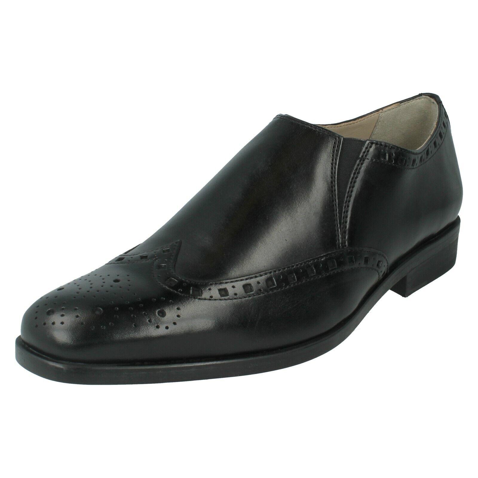 Herren Clarks Leder Formell Elastische Keil Brogues Slip On Schuhe Amieson    | Schön In Der Farbe