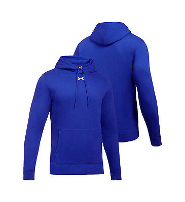 Mens Under Armour Rival Fleece Team Hoodie Royal Blue Pullover 1300123-400 New