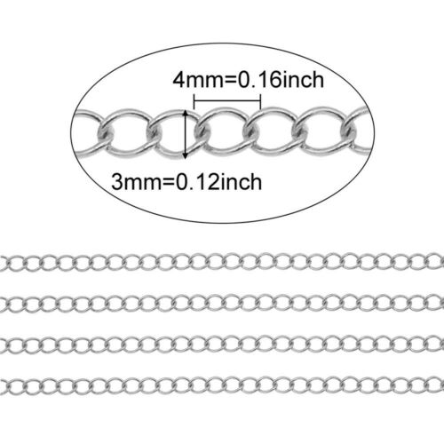5Meter//Roll Stainless Steel Oval Link Chain Necklace Bracelet Jewelry DIY Making