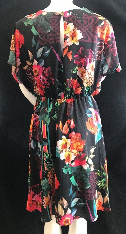 BNWT BIBA Beautiful Printed Romantic Romantic Romantic Floral Kimono Dress Größe 10 SAVE 2c0c02