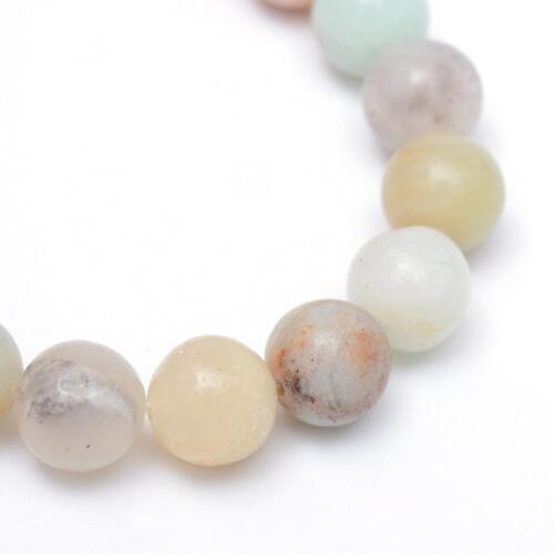 Amazonite Perlen 8mm Edelstein  Poliert Schmuckstein Kugel Natursteine G741