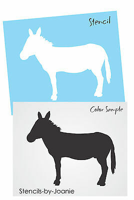 """Stencil 4"""" Donkey Mule Animal Rustic Country Cabin Lodge Outdoor Western Signs"""