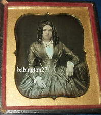 British Daguerreotype Beautiful Young Woman Victorian Fashion 6th Plate 1850s