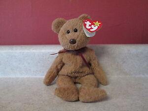 d53c24a291c Original TY Beanie Babies Curly Bear Rare ERRORS 1996 NWT 1993 Tag ...