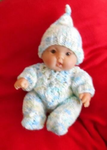 Doll Clothes pastels Hand knitted Set fit chubby Berenguer and Heidi Ott 8in