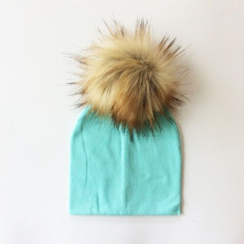 Baby Hat Faux Baby Cap Cotton Pompom Bobble Hat For Kids Winter Boys And Girls