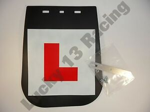 NEW-BikeIt-mud-guard-L-plate-with-fitting-kit-motorcycle-scooter-learner-plate
