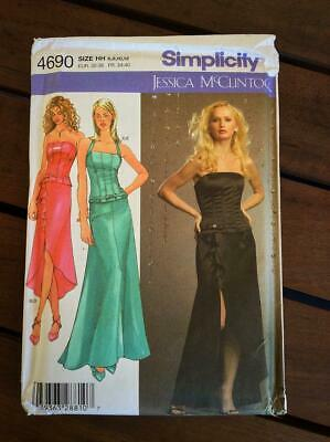 Simplicity 4690 OOP Jessica McClintock Skirt /& Top Pattern 6-12
