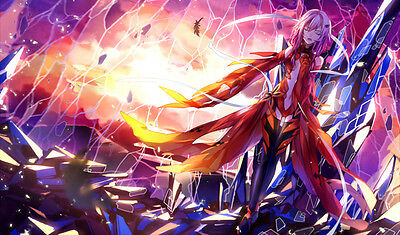 FREE TUBE Yugioh Play Mat Playmat Large Mouse Pad Sexy Girl Guilty Crown #005