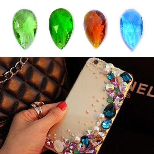10Pcs Teardrop Crystal Glass Loose Beads Jewelry Making Pendants 22*13mm DIY