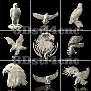 9-3D-Models-STL-CNC-Router-Artcam-Aspire-Eagle-Hawk-Set-Cut3D-Vcarve