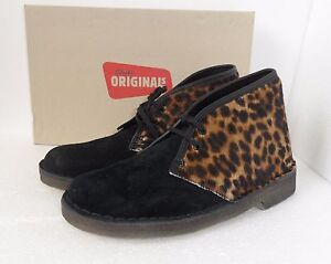 CLARKS ORIGINALS LADIES DESERT BOOTS LEOPARD PRINT UK various sizes ... 85d2e445f