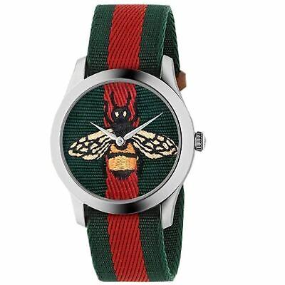 Gucci YA1264060 Men's  Le Marche Des Merveilles Green/Red Quartz Watch 731903444546 | eBay