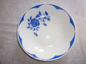 Assiette-creuse-a-soupe-DIGOIN-SARREGUEMINES-Corsica-fleur-rose-bleu-diam-20-cm
