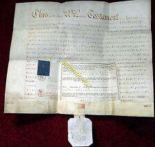 1850 Original Probate Will GEORGE ANDERSON of ALNWICK, Shoemaker