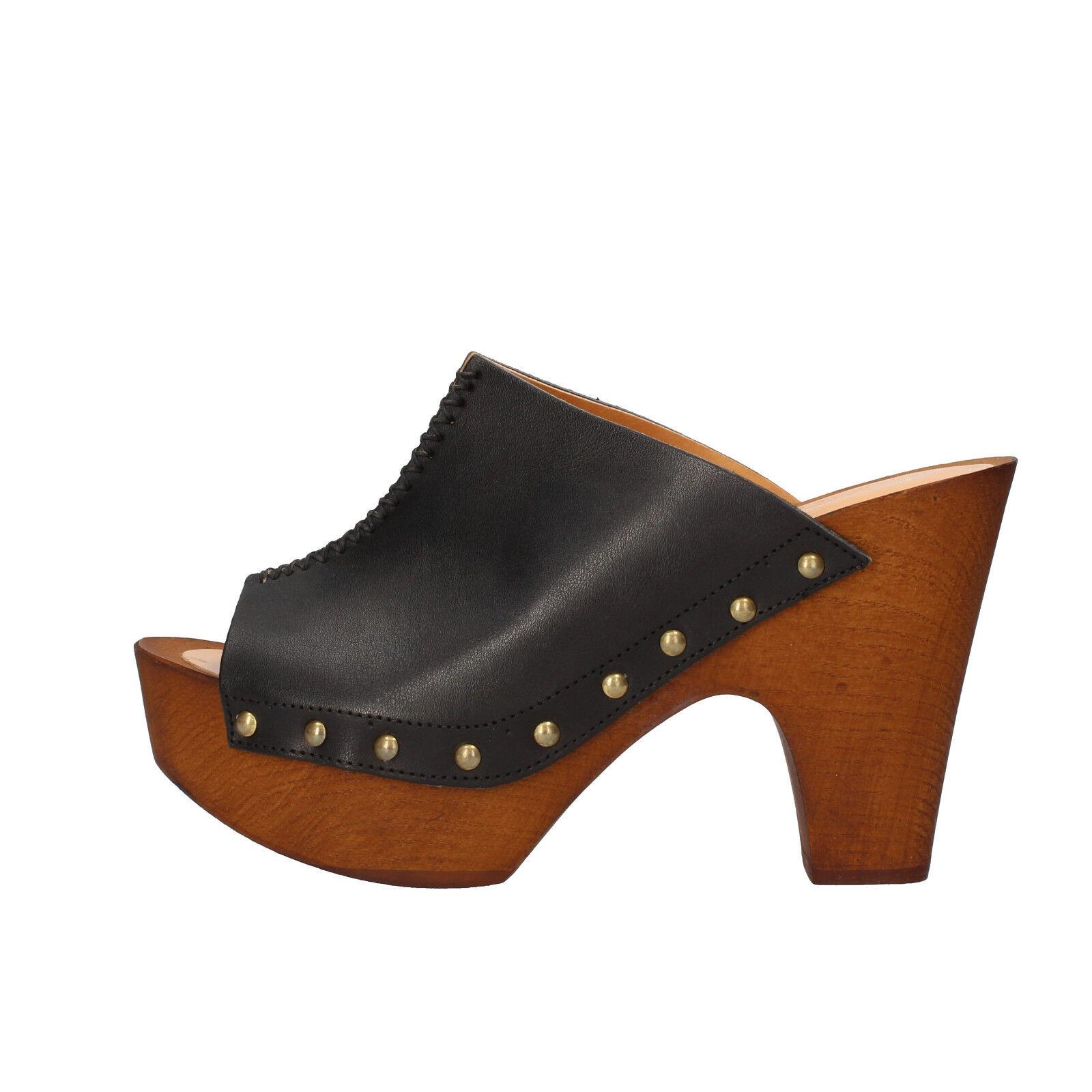 Scarpe donna OLGA RUBINI 37  EU sandali nero pelle pelle nero AF638 C  37  c515fb