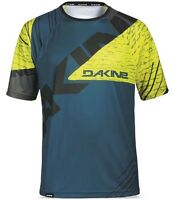 Dakine Thrillium Short Sleeve Mtb Bike Cycle Jersey Mens Blue Yellow Small