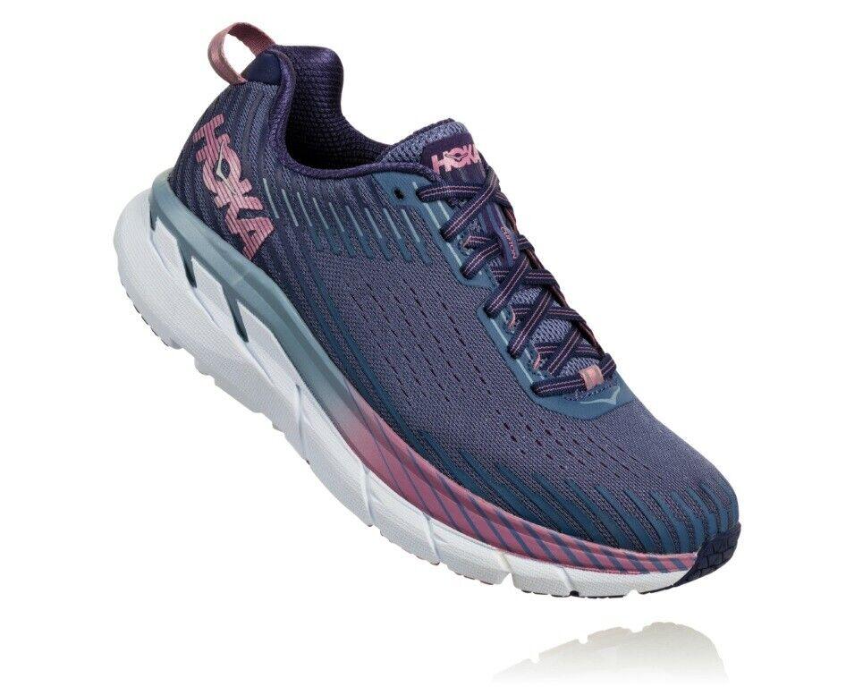 Hoka Clifton 5 Damen Laufschuhe running Sportschuhe lilat lila - Marlin Blau