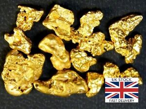 Gold-Nuggets-7x-High-Purity-21-23kt-Pure-Genuine-Alaskan-Approx-0-5-1-5mm-UK