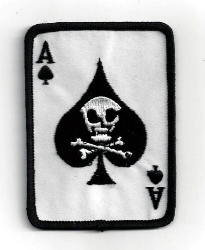 ACE OF SPADES DEATH CARD VIETNAM SKULL HAT PATCH US ARMY