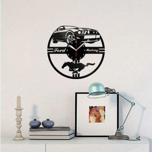 Ford Mustang Vinyl Record Wall Clock Art Decor Original Gift 12/'/' 30cm 2546