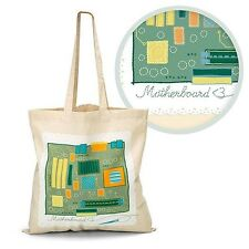 Computer Motherboard Tote Bag 100% Cotton Canvas, Great Nerdy Mothers Day Gift