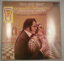 La Traviata & Rigoletto/Caballe/Moffo/Merrill/Pretre & Solti/RCA Stereo 2LP NEW