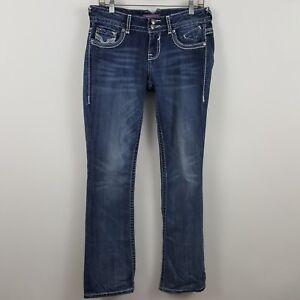 Vigoss-Premium-Slim-Boot-Cut-Women-039-s-Blue-Jeans-Size-5-x-33