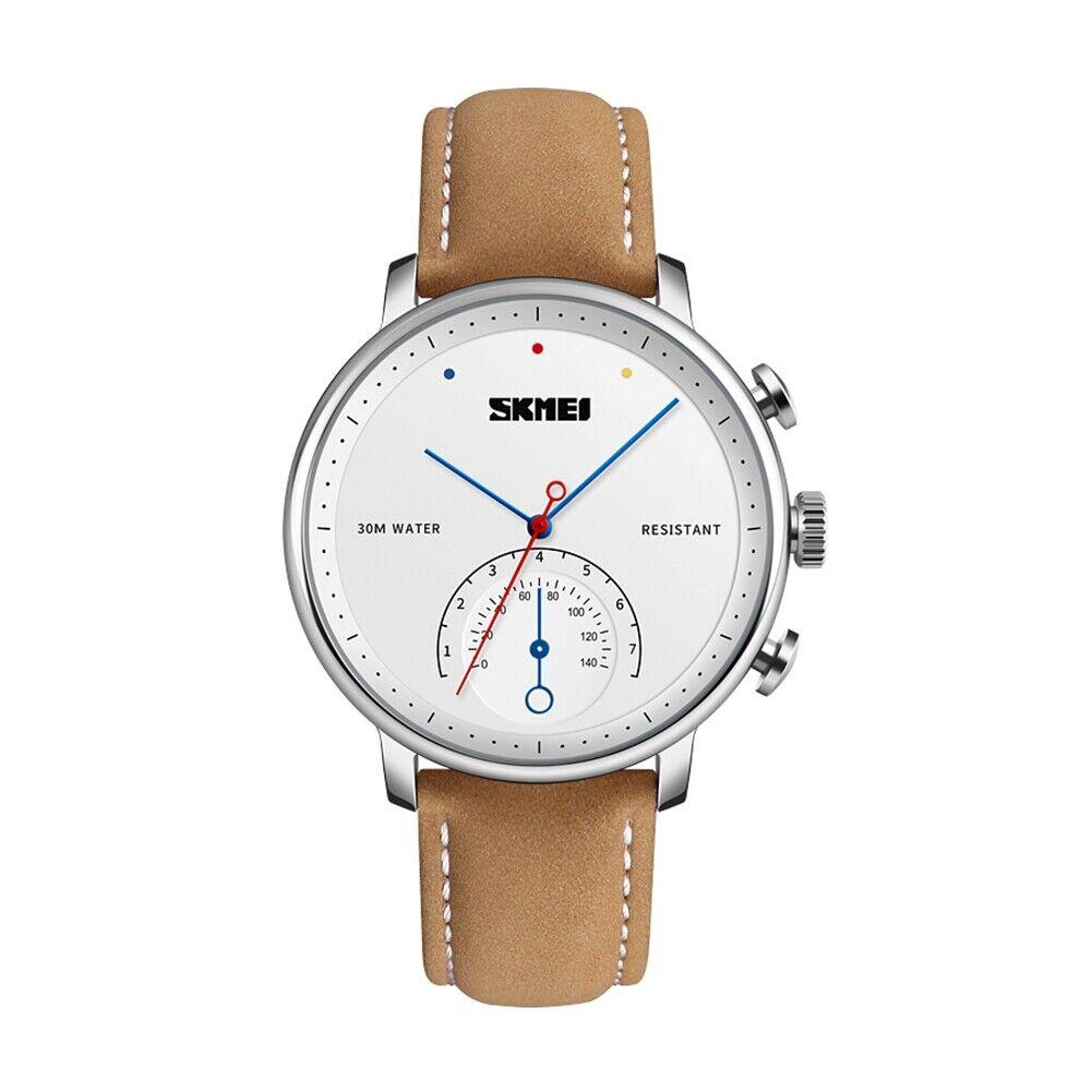 Image 131 - SKMEI Fashion Quartz Watch Ladies Men Leather Strap Business Wristwatch 1399 05