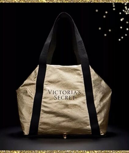 da Secret dorata Victoria's weekend pieghevole Borsa 6RnzTWT
