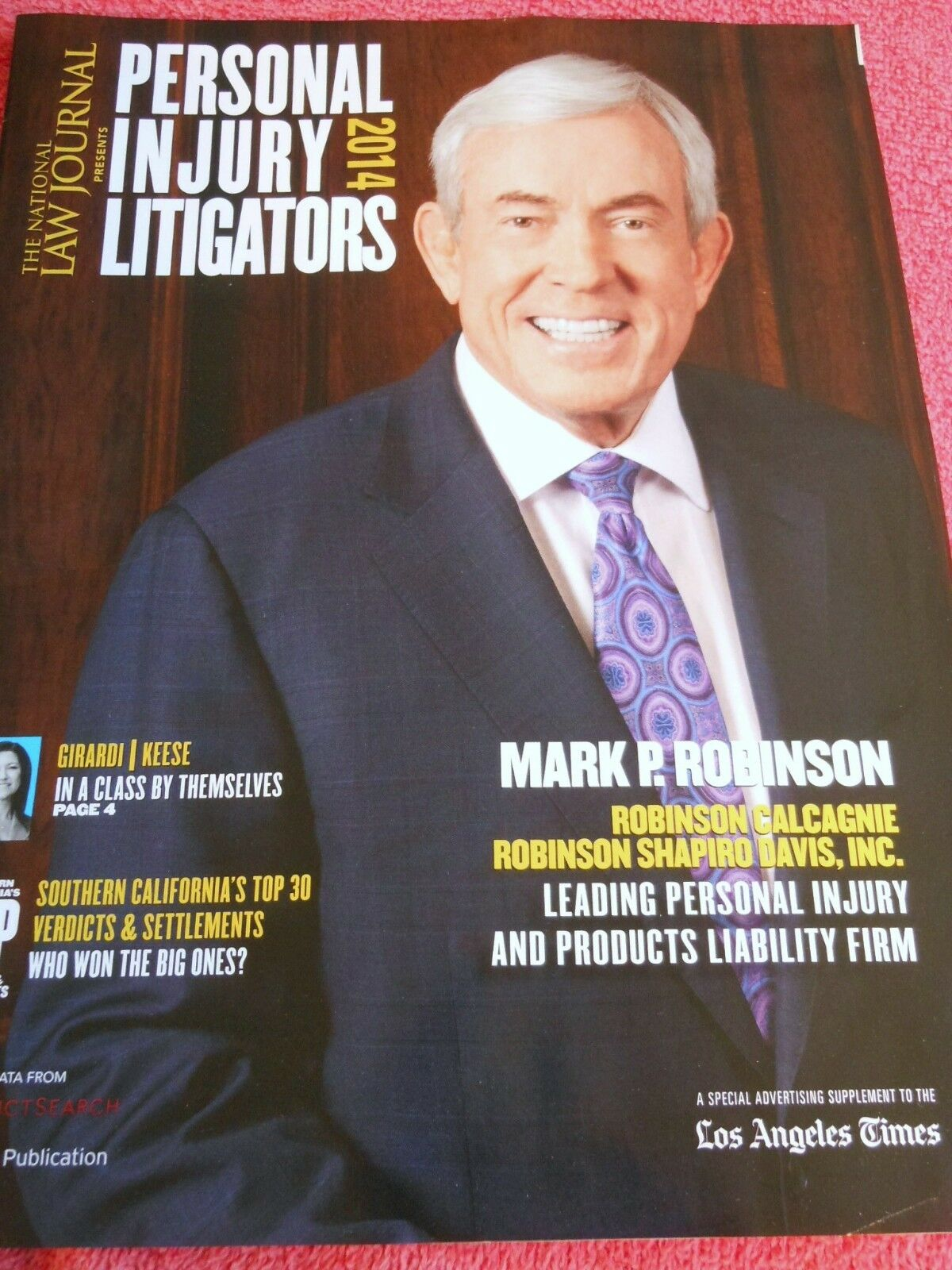 NATIONAL LAW JOURNAL PERSONAL INJURY LITIGATORS 2014 MARK ROBINSON GIGARDI KEESE 1